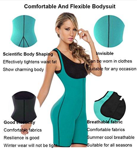 0d8e2ba2c9 LONGBIDA Women Sweat Fitness Shapers Thermal Bodysuit Full Body Shaper  Sauna Slimming Waist Trainer Corsets(Black, 3XL)