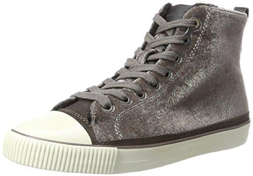 Calvin Klein Dame Debby Fløjl Sneaker Silber (sølv) WE5yIsPC
