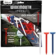 """GoSports 3.25"""" Widemouth Plastic Golf Tees 