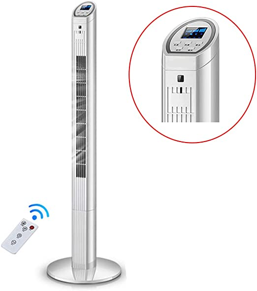 TNUGF Ventilador Purificador de Pie Aire para Hogar Ventilador de la Torre de enfriamiento con Control Remoto, ionizador, 3 configuraciones de Velocidad de enfriamiento, Ahorro de energía (Blanco): Amazon.es: Hogar