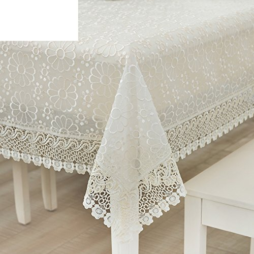 ZB STORE Thai embroidery embroidery lace table cloth,Lacy drawers covered towel-A 150x210cm(59x83inch) by ZB STORE