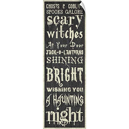 CANVAS ON DEMAND Halloween Sign Wall Peel Art Print, 12