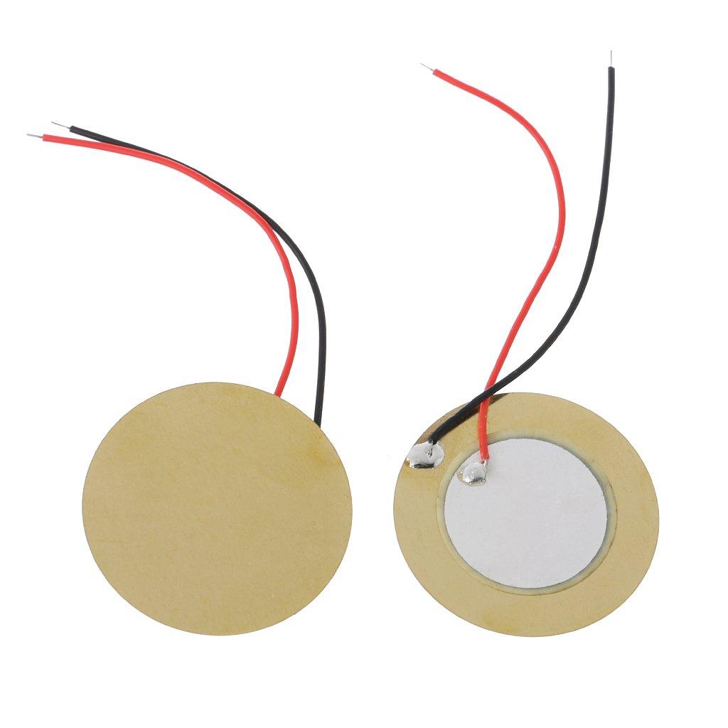 10X20mm Piezo Elements Buzzer Sounder Sensor Trigger Drum Disc+wire coppers HDUK