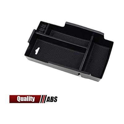 Center Console Organizer Insert ABS Black Materials Tray Armrest Secondary Storage Box Glove Pallet Container Fits Toyota Camry 2012 2013 2014 2015 2016: Automotive
