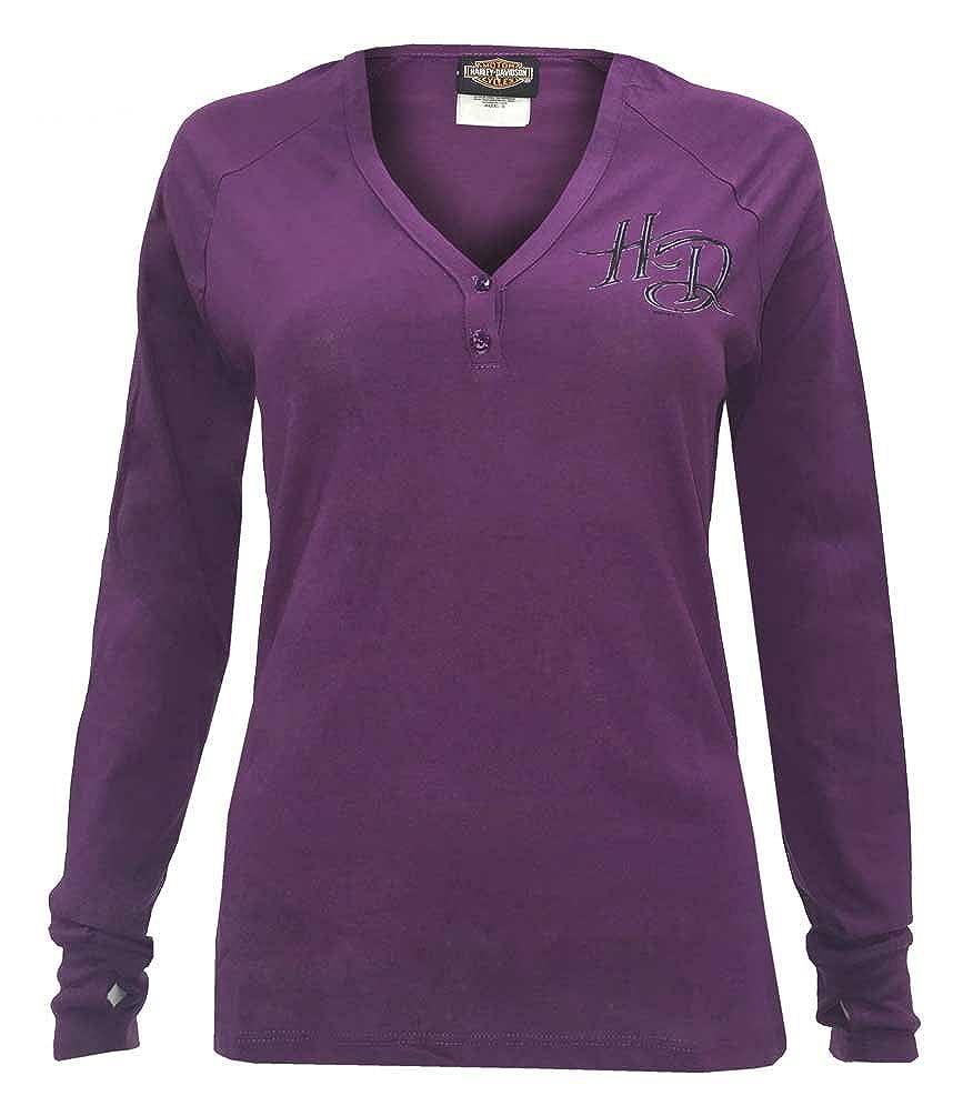 4be64cb15ff Harley-Davidson Women s Instill Life Raglan Long Sleeve Henley Super soft  shirt