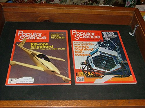 2 Issues Popular Science Aug Oct 1981 World's Mightiest Telescopes