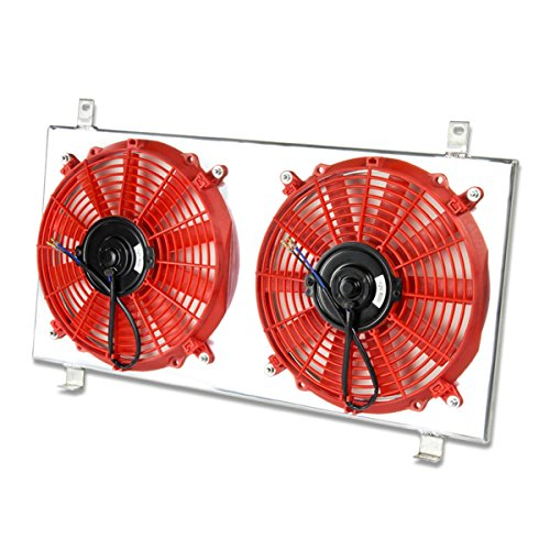 Subaru Legacy MT Aluminum Bolt-on Cooling Radiator Fan Shroud (Red) - 3rd Gen BE BH