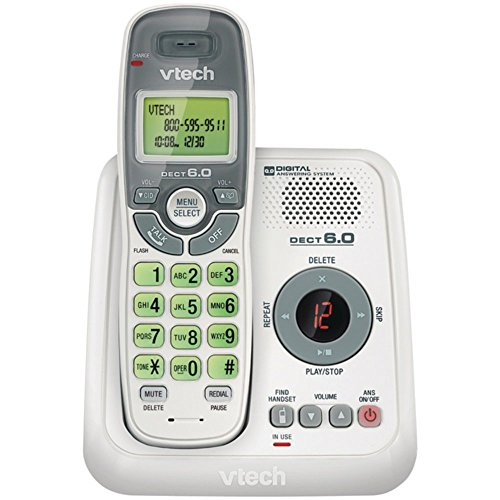 VTech VTCS6124 DECT 6.0 Cordless Phone System White W/Digital Answering System Electronics Accessories