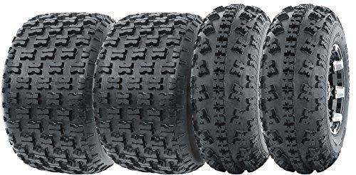 Set of 4 WANDA Sport ATV Tires AT 23x7-10 Front & 20x10-9 Rear /6PR by Wanda