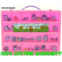 Hatchimals Colleggtibles Storage Organizer - My Egg Crate - Durable Carrying Case For Mini Eggs, Easter Eggs & Speckled Eggs - By Life Made Better - Pink