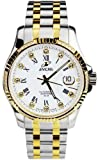 Enicar Astronomy White Dial Automatic Mens Two Tone Watch 3165/50/329GS