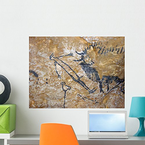 - Wallmonkeys Cave Painting of Bird-Headed Man at Lascaux Wall Decal Peel and Stick Graphic WM249399 (24 in W x 18 in H)