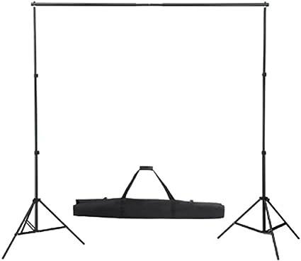 Vidaxl Fotostudio Set 3x3 M Weiß Alu Hintergrundsystem Kamera
