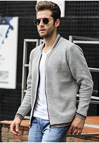 カーディガン メンズ ニットジャケット ジャケット アウター ビジネス カジュアル おしゃれ 無地 シンプル 通勤 ジップアップ セーター