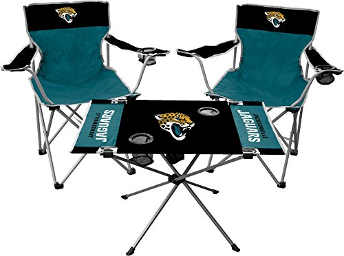 Jacksonville Jaguars Table - Rawlings NFL Jacksonville Jaguars Tailgate Kit, Team Color, One Size