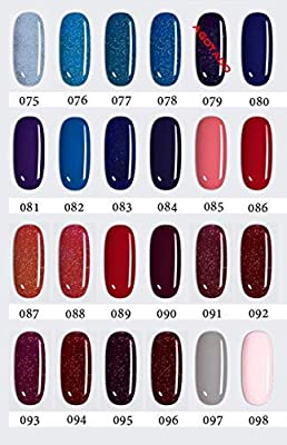 LOVECRAZY - Kit de Esmaltes de Uñas en Gel Semipermanente, 10 Colores de Esmaltes y Top Coat Base Coat: Amazon.es: Belleza