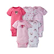 [Sponsored]Baby Girls' 5-Pack Short-Sleeve Onesies