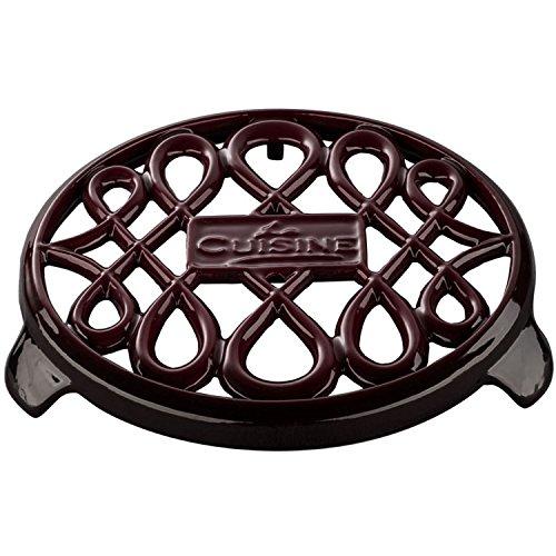 La Cuisine LC 2805 6 Piece Enameled Cast Iron Round Casserole/Trivet Cookware Set, Ruby by La Cuisine (Image #4)
