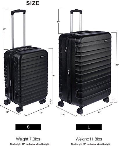 AmazonBasics-Hardside-Spinner-Luggage-Black