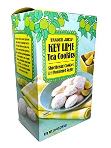 Trader Joes Key Lime Shortbread Tea Cookies With Powdered Sugar 10 Oz from Trader Joe's