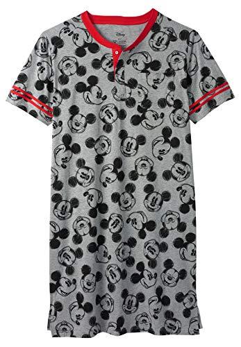 KingSize Men's Big & Tall Novelty Nightshirt, Mickey Sketch Big-3XL/4X