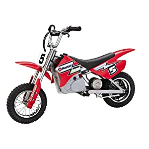 Razor MX350 Dirt Rocket 24V Electric Toy Motocross Motorcycle Dirt Bike, Red