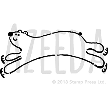 a4 ice skating polar bear wall stencil template ws00005203