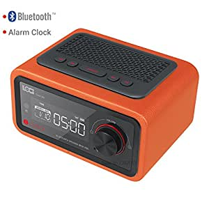 YYYBW Bluetooth Speaker Alarm clock Alarm Card Player Wireless Radio FM Four Groups Alarm clock Calendar