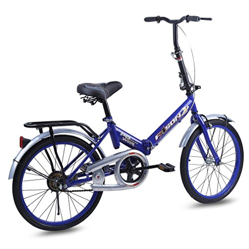 Water-chestnut 20 Inches Single Speed Folding Bike Bike Subway Transit Vehicles Road Bicycle Outdoor Sports Exercise Bike No Traffic Jam by Water-chestnut (Image #2)