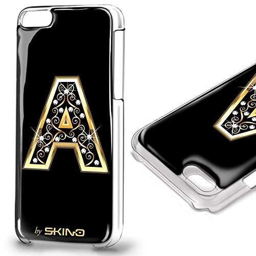 Skino™ Custodia Skin 3D Anti-Gravità Case Cover Resina Gel per iPhone 5 / 5s / 5 SE / 6/6 Plus / 6s / 6s Plus / 7/7 Plus Anti-Scratch Protezione 100% UV Antiscivolo Letter Gold Lettera Doro A (iPhone