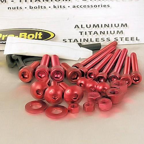 Aluminium Workshop Kit 25 Piece Red