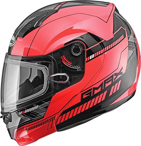 G-Max MD04 Quadrant Snow Helmet Red/Black (Red, X-Small)