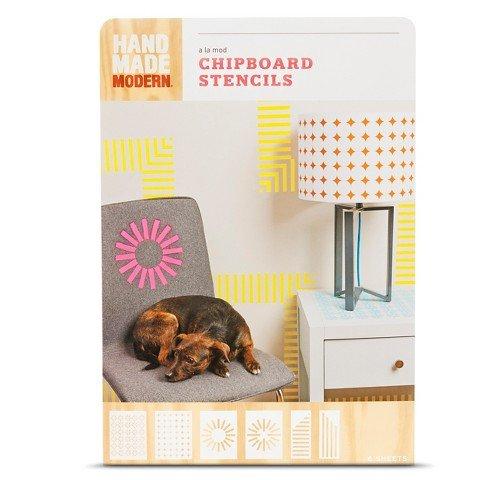 Hand Made Modern – a la mode Chipboard Stencils 6ct Modern Geometric Pattern