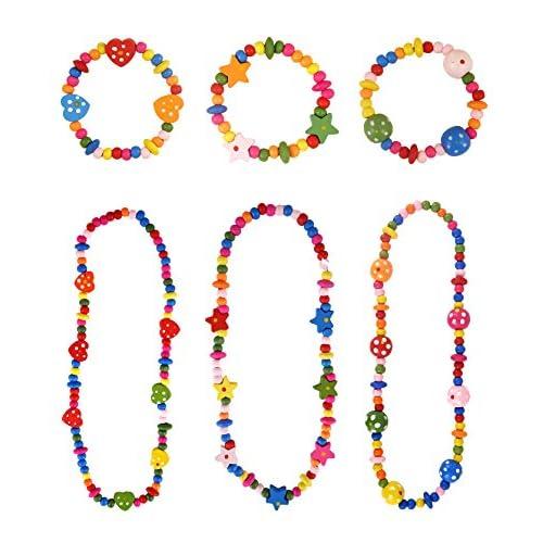 Storm&Lighthouse Ensemble de collier et bracelet en bois multicolore (12 pièces) Faveurs de fête / cadeaux / récompenses