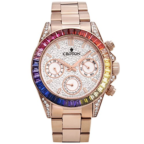 Croton Men's Rosetone Multi-function Watch with Multi-col...