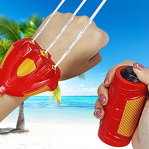 bestheart Water Gun Children's Portable Small Water Gun for Swimming Pools Beach Party Water Shooter Fighting Toy (Red)