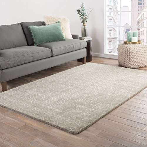Jaipur Living Rembrandt Hand-Tufted Trellis Gray/Silver Area Rug (2' X 3') ()