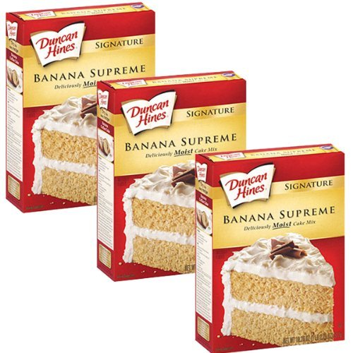 - Duncan Hines Signature Cake Mix Banana Supreme 16.5oz (Pack of 3) by Duncan Hines Signature