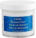 FloraCraft Diamond Dust Glitter 14 Ounce Clear Glass