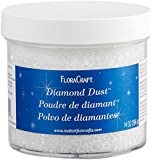 FloraCraft Diamond Dust Glitter Plastic Jar, 14-Ounce