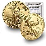 2020 1/10 oz Gold American Eagle BU In Coin Flip