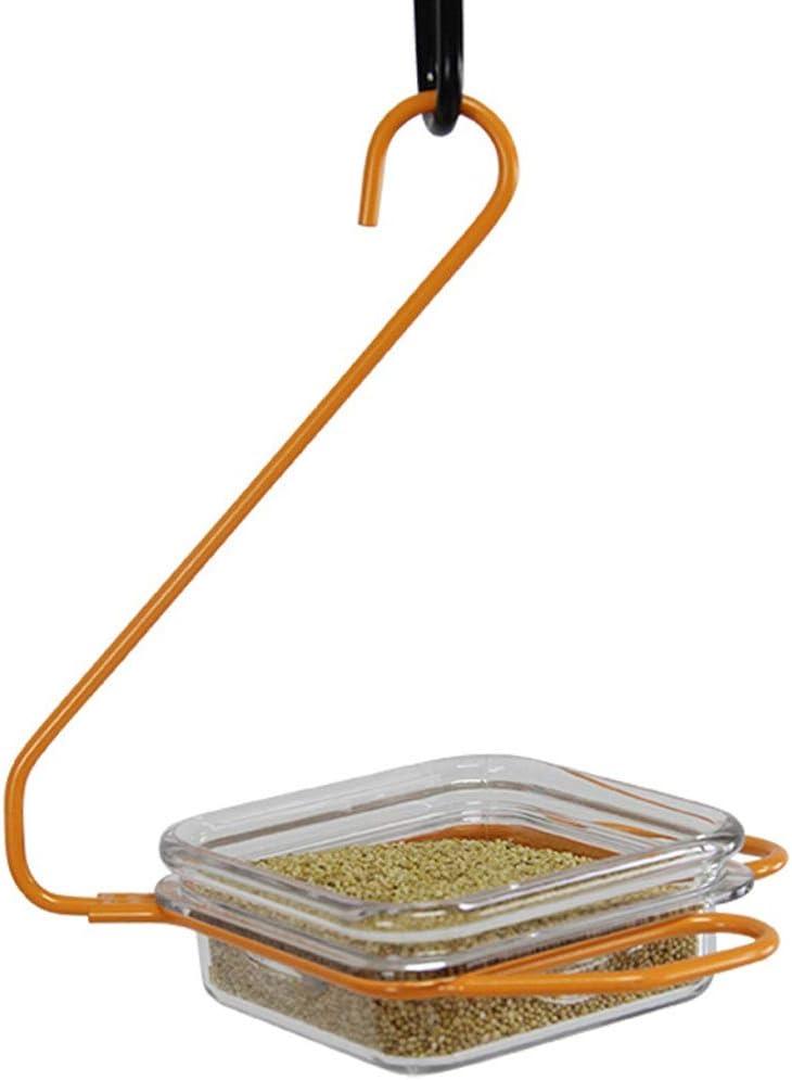 ZSCWMB Alimentador de pájaros pequeños al aire libre Diseño de gancho de plástico resistente al desgaste del tazón de los alimentos para pájaros de diseño pequeño con agujeros Sin agujeros Comedero pa
