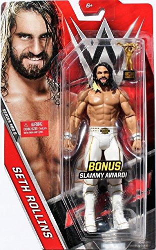 "Seth Rollins with Bonus Slammy Award WWE Mattel Toy Wrestling Action Figure 6"" IN STOCK"