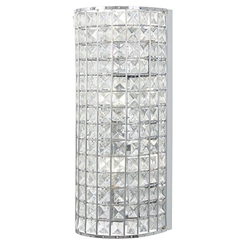 Minka Lavery Wall Sconce Lighting 2382-77 Palermo Wall Lamp Fixture, 2-Light 120 Watts, Chrome