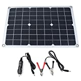 Qjoy 20W Waterproof Battery Solar Panel USB for Phone Lighting Car Charger