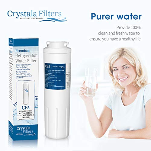 UKF8001 Compatible with Refrigerator Filter Whirlpool 4, Maytag Jenn-Air, PUR, UKF8001P, Puriclean II, 469006, Crystala Filters