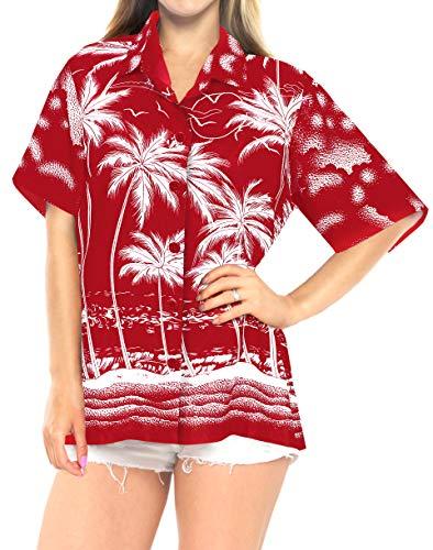 LA LEELA swim shirts red 2019