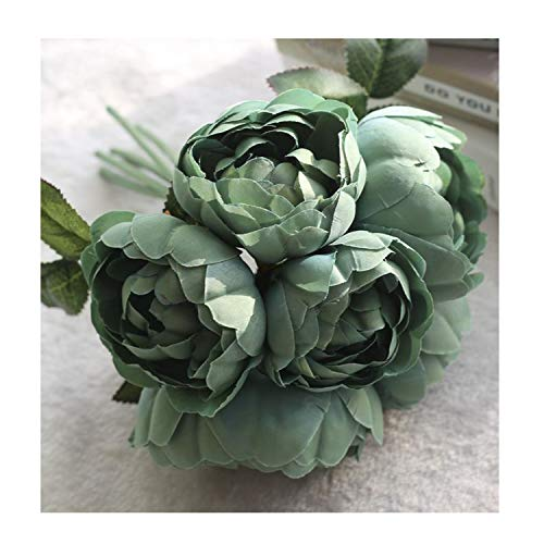 6 Heads European Style Fake Artificial Peony Silk