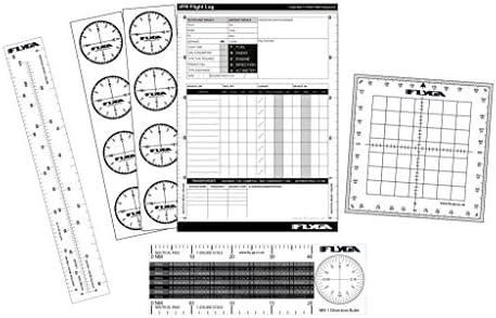FlyGA Set de navegación de vuelo (kit de arranque de la aviación) – para PPL(A), LAPL, PPL(H) y CPL Pilotos Estudiantes: Amazon.es: Deportes y aire libre