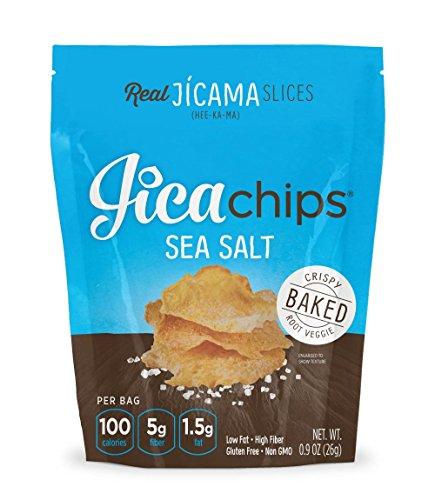 JicaChips Jicama Chips, Sea Salt, 8 Pack, BAKED, Paleo, Gluten Free, Vegan - Chip Cross